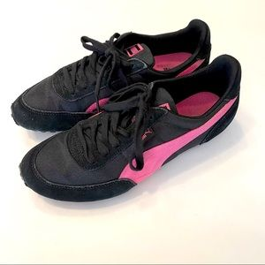 Puma black and pink sneakers size 9